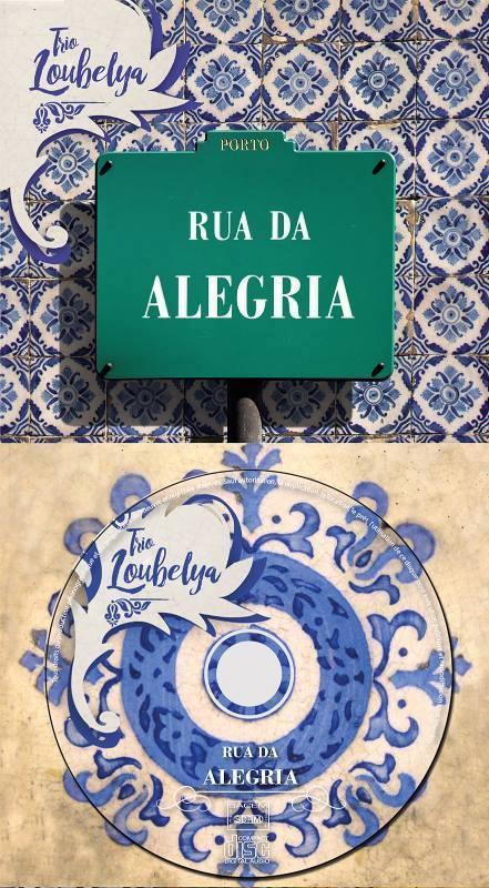 Visuel Rua da Alegria, deuxième album du Trio Loubelya